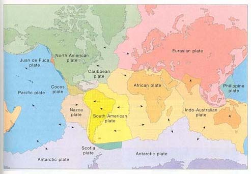 A primer on plate tectonics several large tectonic plates and numerous small ones most plates include both continent darker colors and adjacent ocean floor lighter colors sciox Images